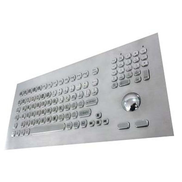 trackball Stainless Steel Metal Kiosk Keyboard LBKB35003 US Layout