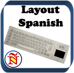 Metallic Keyboard with Touchpad - Layout Spanish