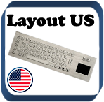 Metallic Keyboard with Touchpad - Layout US